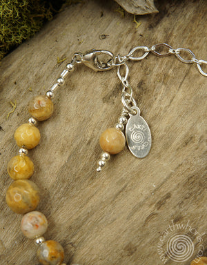 Crazy Lace Agate & Silver Bracelet - EarthWhorls, LLC