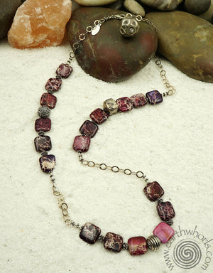 Purple Jasper & Sterling Silver Necklace