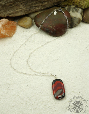 African Clay Pendant Necklace - EarthWhorls, LLC