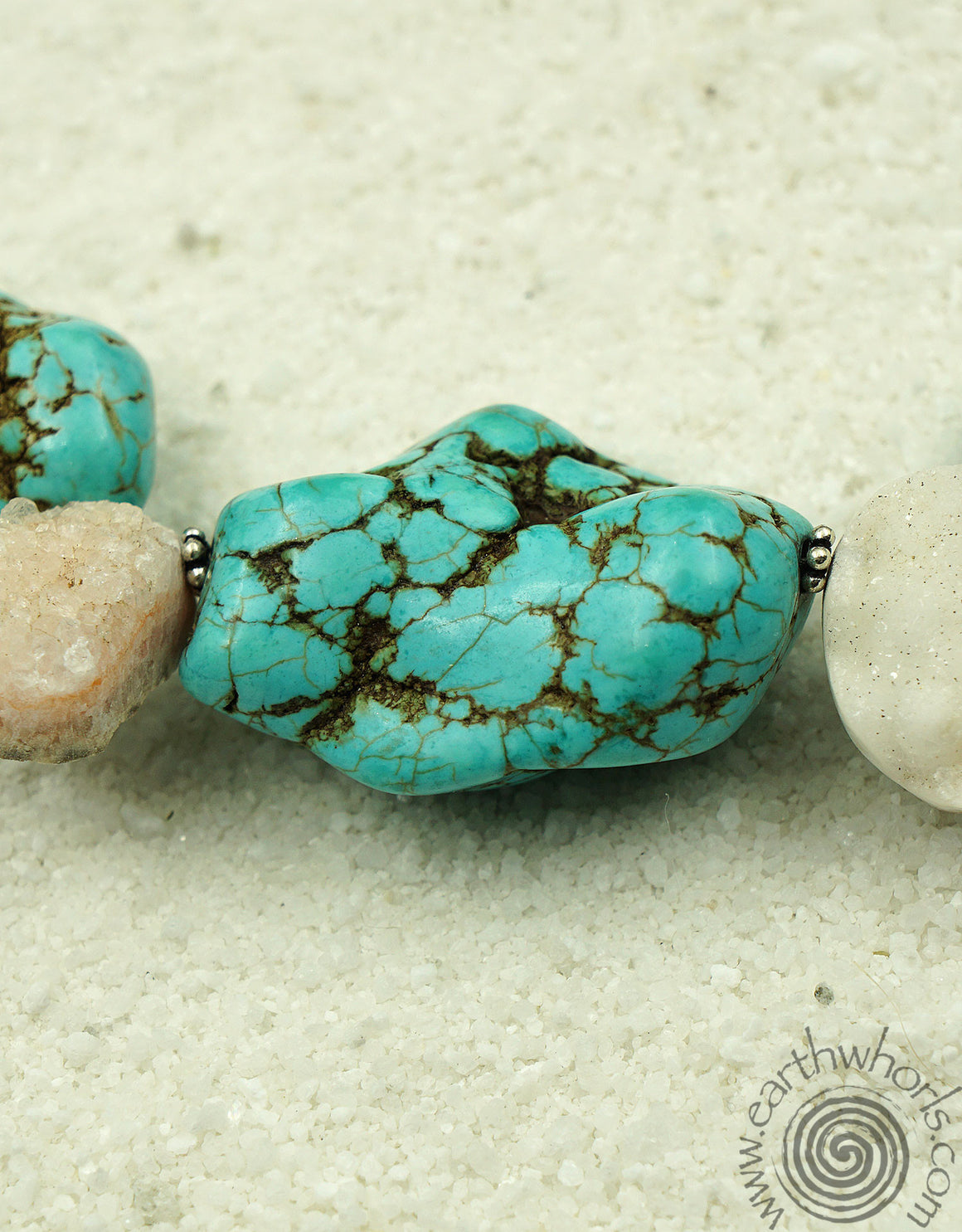 Turquoise & Jasper Necklace - EarthWhorls, LLC