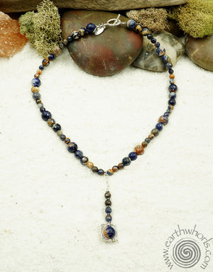 Lapis, Chakra Stone & Sterling Silver Necklace