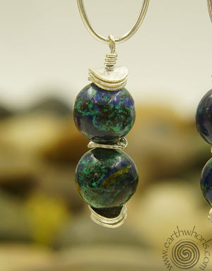 Lapis & Silver Earrings - EarthWhorls, LLC