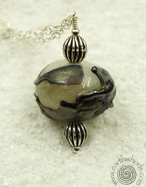 Handmade Glass Pendant Necklace - EarthWhorls, LLC