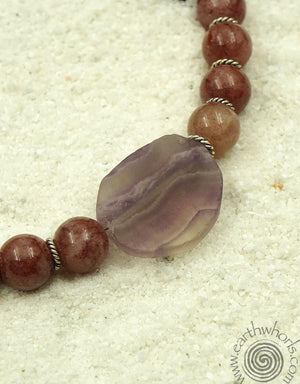 Purple Muscovite & Silver Necklace - EarthWhorls, LLC