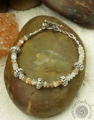 Moonstone Bracelet - EarthWhorls, LLC