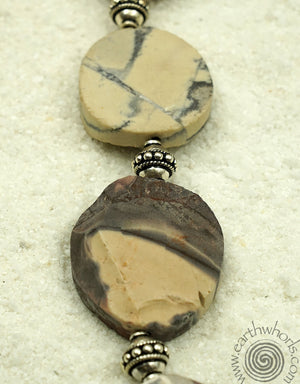 Jasper & Drusy Heart Pendant Necklace