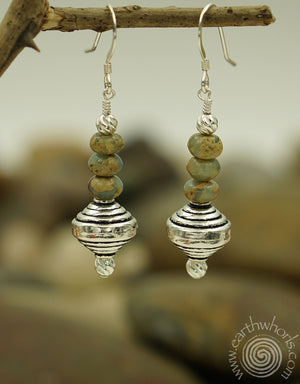Terra Cotta Jasper & Sterling Silver Earrings