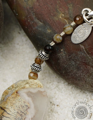 Jasper, Agate & Sterling Silver Necklace