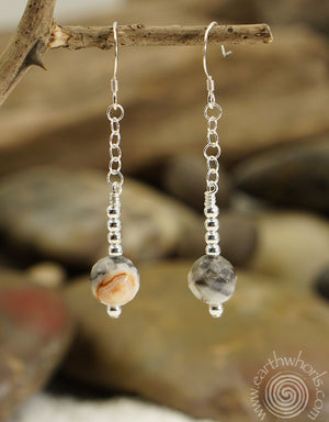 Mixed Stone & Sterling Silver Earrings