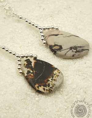 Scenic Jasper & Sterling Silver Lariat Necklace