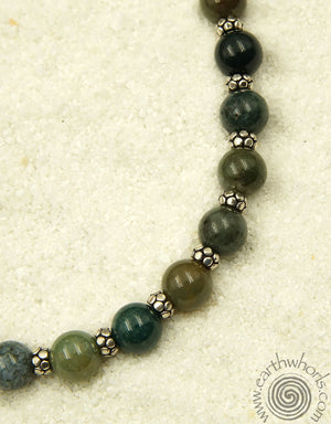 Jasper & Sterling Silver Choker Necklace