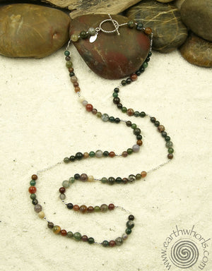Jasper & Sterling Silver Necklace
