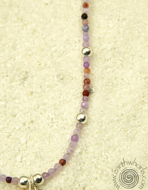 Mixed Gemstones & Sterling Silver Necklace