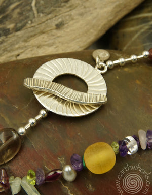 Mixed Stone & Sterling Silver Long Necklace
