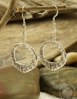 Handcrafted, Fine Metal & Sterling Silver Earrings - EarthWhorls, LLC