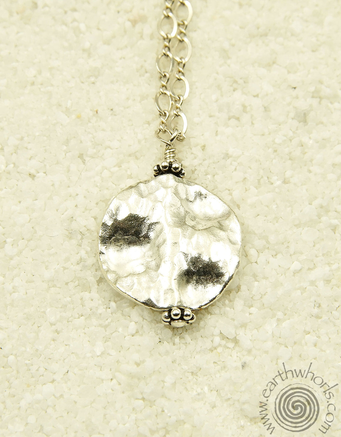 Agate & Sterling Silver Charm, Pendant Necklace - EarthWhorls, LLC