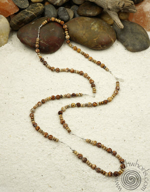 Natural Stone Agate & Sterling Silver Designer Necklace