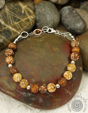 Agate & Sterling Silver Necklace of Natural Stone - EarthWhorls, LLC