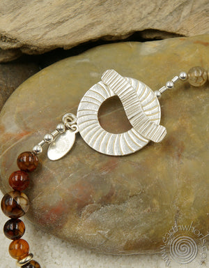 "Picasso ""Spiderweb"" Jasper & Sterling Silver Necklace - EarthWhorls, LLC"
