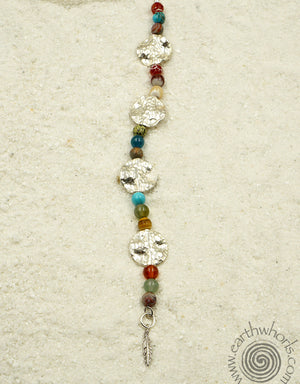 Chakra & Sterling Silver Mixed Stone Designer necklace - EarthWhorls, LLC