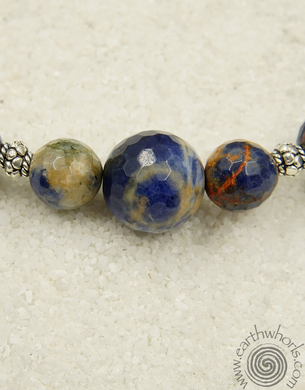 Orange Sodalite & Sterling Silver Choker Necklace