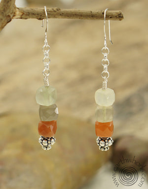 Strawberry Quartz & Sterling Silver Dangle Earrings
