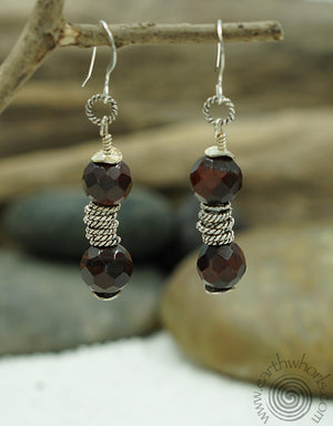 Tiger's Eye & Sterling Silver Free Spirit Earrings