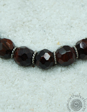 Tiger's Eye & Sterling Silver Choker Style Necklace - EarthWhorls, LLC
