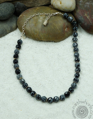 Agate Chakra Stone & Sterling Silver Adjustable Length Necklace - EarthWhorls, LLC