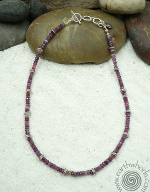Ruby & Sterling Silver Fine Fashion Necklace