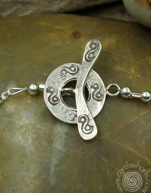 Seriously Silver Pendant Necklace - EarthWhorls, LLC