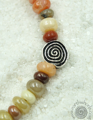 Chakra Mixed Stone & Sterling Silver Bracelet - EarthWhorls, LLC