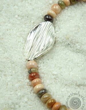 Chakra Mixed Stone & Sterling Silver Long Designer Necklace - EarthWhorls, LLC