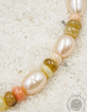 Fresh Water Pearl & Sterling Silver Bracelet - EarthWhorls, LLC
