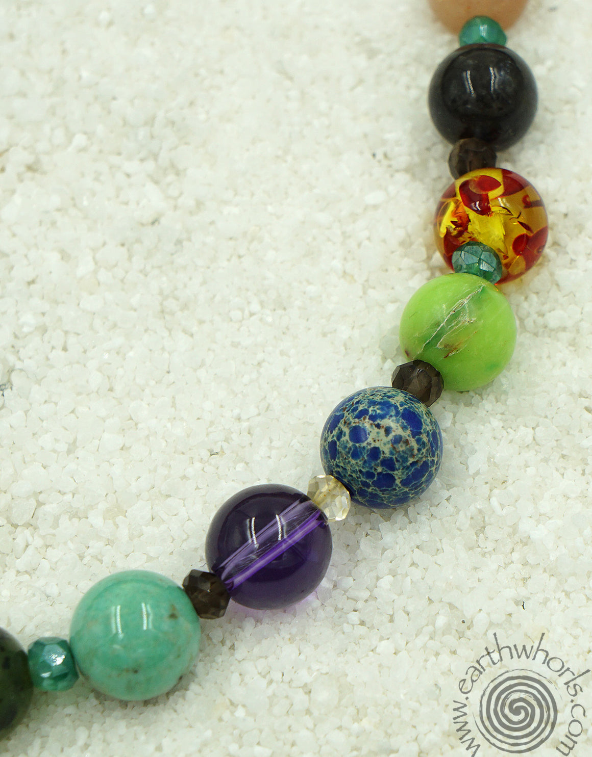 Chakra Stone & Sterling Silver Necklace - EarthWhorls, LLC