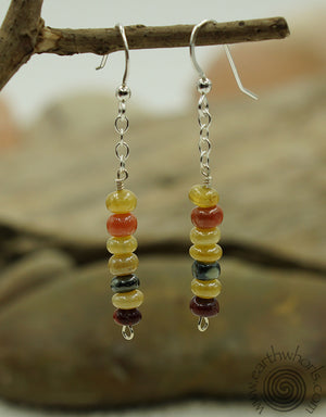 Chakra Stone & Sterling Silver Mixred Stone Earrings - EarthWhorls, LLC
