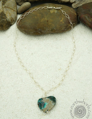 Turquoise & Sterling Silver Pendant Necklace