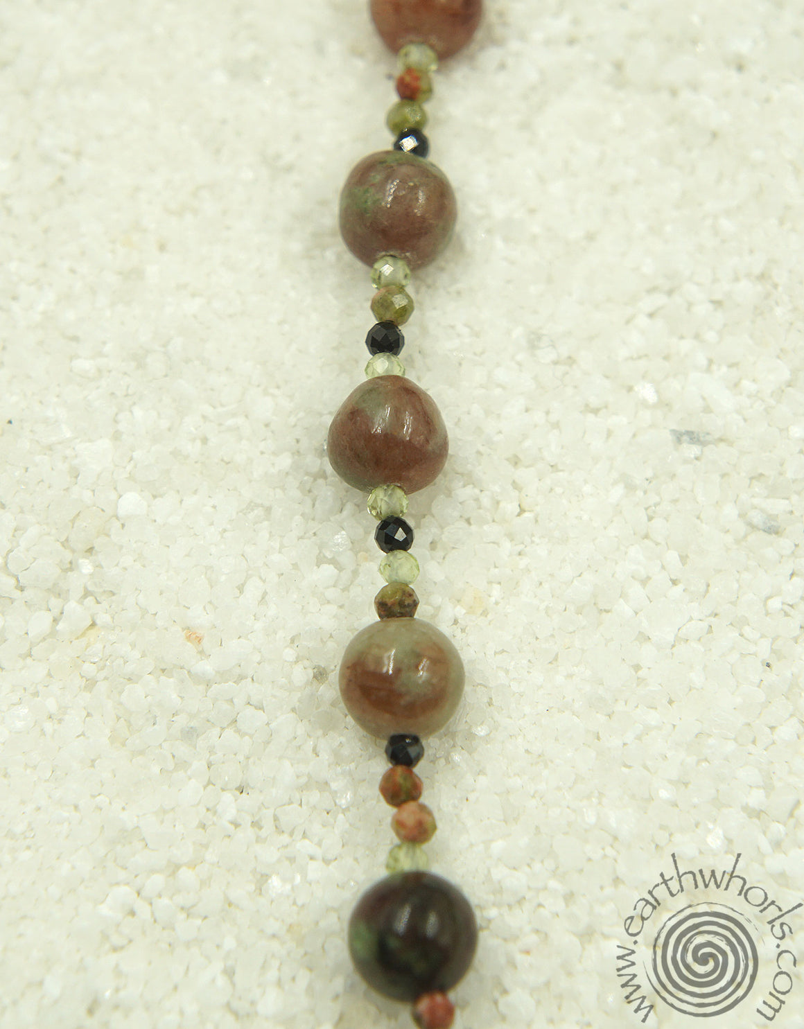 Garnet, Mixed Stones & Sterling Silver Choker necklace - EarthWhorls, LLC
