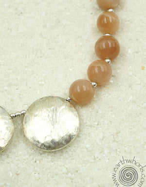 Honey Tiger's Eye & Sterling Silver Boho Style Necklace - EarthWhorls, LLC