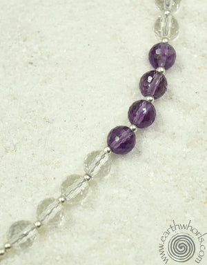 Fluorite & Sterling Silver Designer Necklace - EarthWhorls, LLC