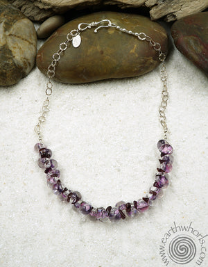 Handmade Glass & Sterling Silver Fashion Necklace - EarthWhorls, LLC