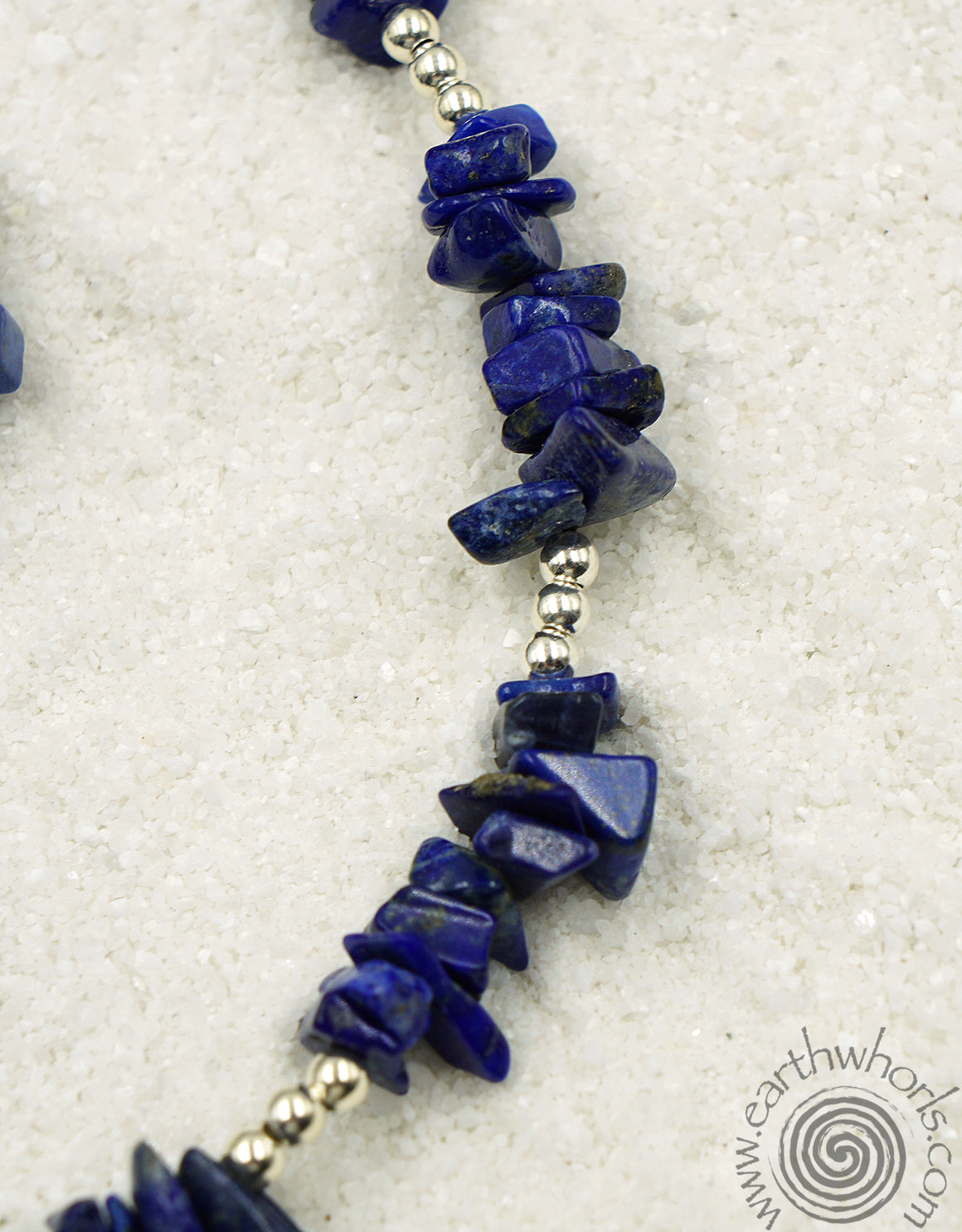 Lapis Lazuli & Sterling Silver Long Necklace