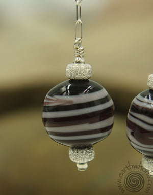 Italian, Handmade Glass Designer Earrings - EarthWhorls, LLC