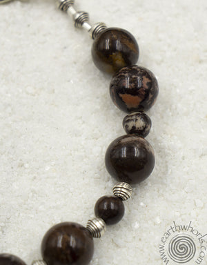Picture Jasper & Sterling Silver Adjustable Length Bracelet