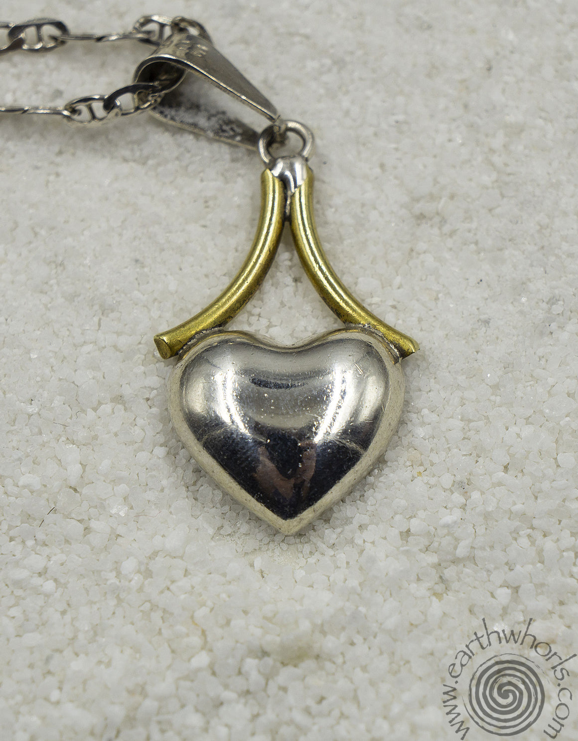 Sterling Silver Heart Design Pendant Necklace