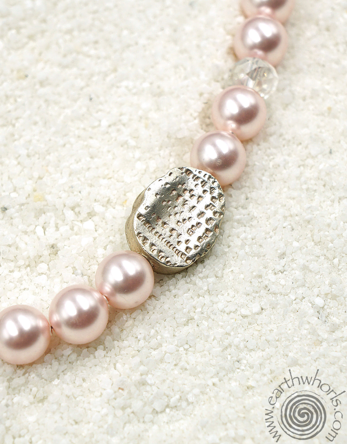 Swarovsky Crystal Pearls, Crystal & Sterling Silver Necklace - EarthWhorls, LLC
