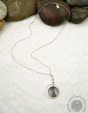 """Eternity/EarthWhorls"" Pendant Necklace with Sterling Silver - EarthWhorls, LLC"