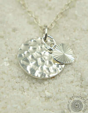 Sterling Silver Pendant Necklace - EarthWhorls, LLC