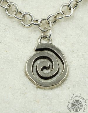 Eternity Sign Charm Pendant Necklace - EarthWhorls, LLC