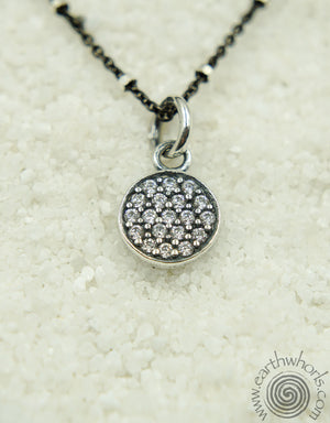 Sterling Silver Druzy Pendant Necklace - EarthWhorls, LLC